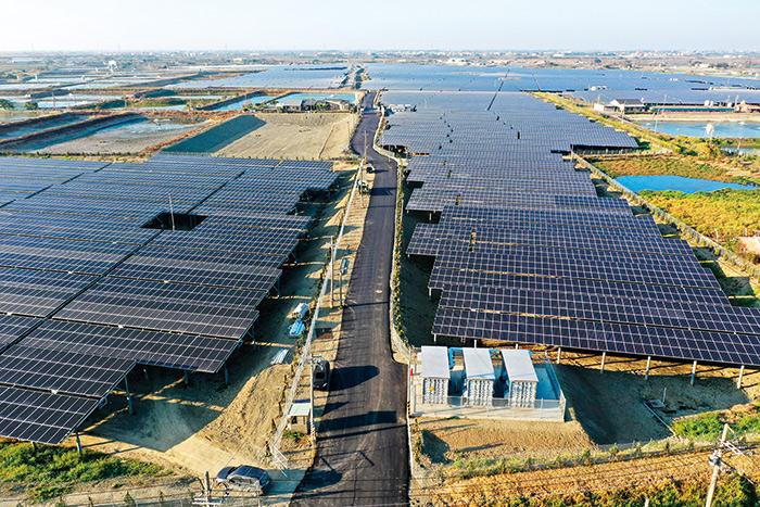 台南學甲建置的電廠