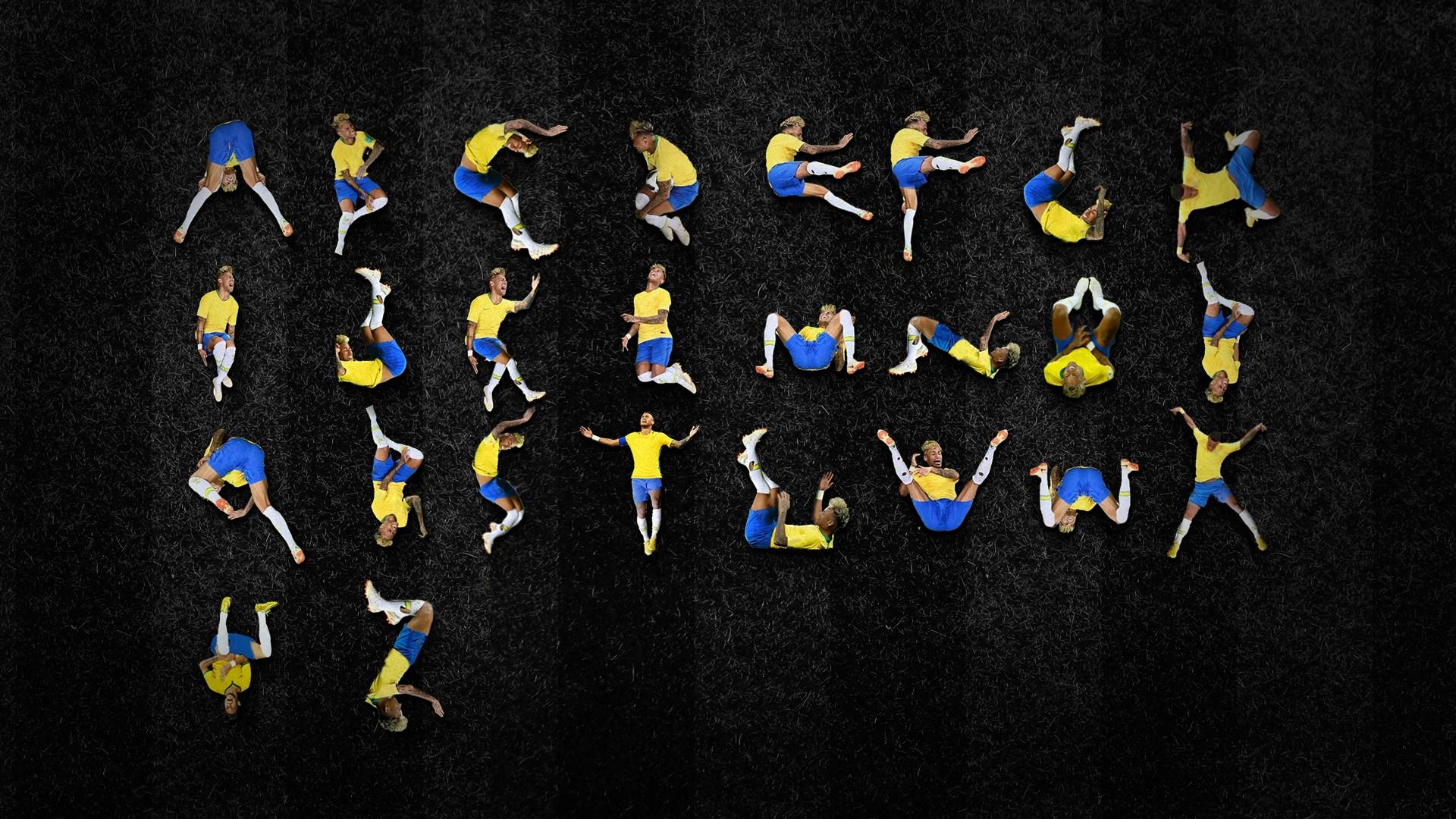 滾出26個英文字!巴西設計師集成最新字體「內馬爾滾體」開放下載