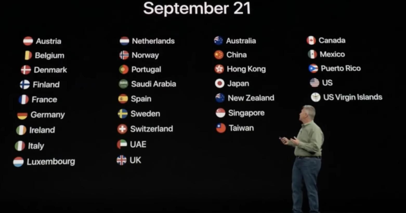 蘋果發表會秀我國國旗 環球時報:蘋果,你什麼意思?