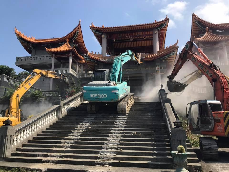 「五星廟」違建今上午開拆 國台辦:迫害主張統一的台灣人