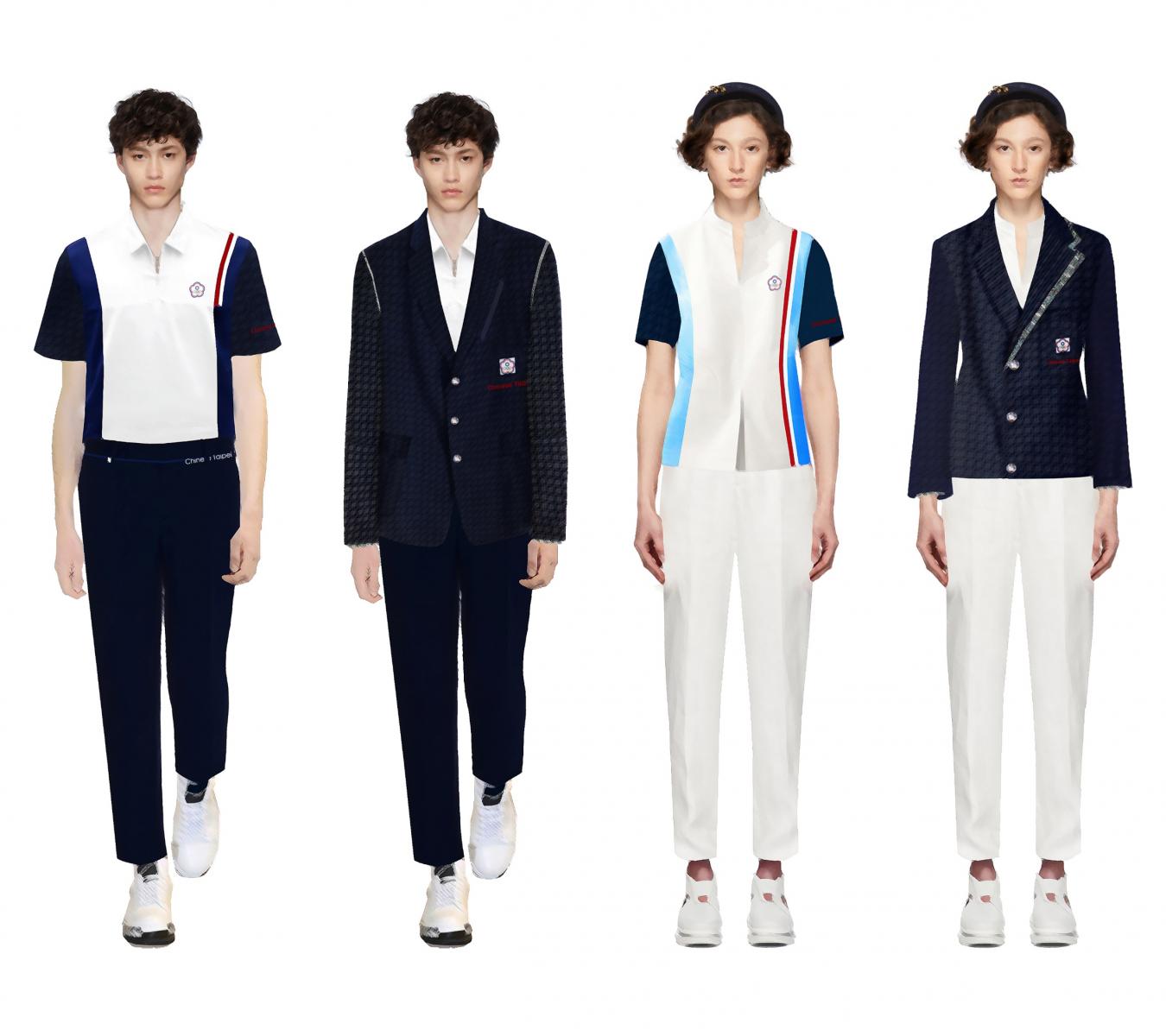 東奧中華代表團制服與時尚界合作 周裕穎打造戰袍出現「阿嬤家的窗花」