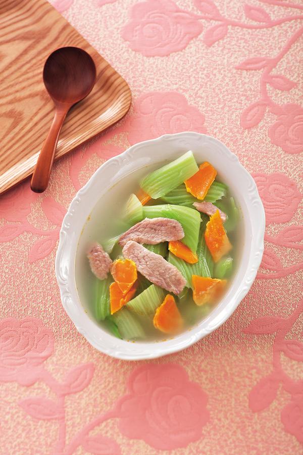鹹蛋芥菜湯