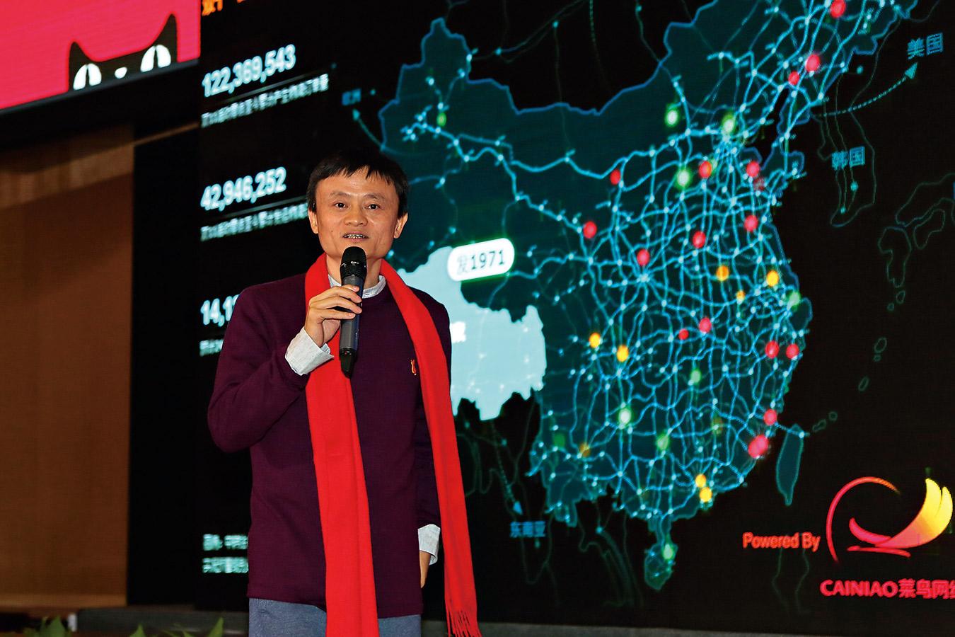 光棍節網購創下單日成交金額350億元人民幣的驚人紀錄,馬雲一手建起的電子商務城牆,已經高 到讓競爭對手難以追趕。