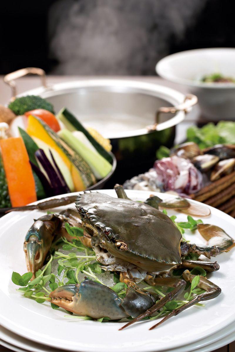 秋季限量的紅蟳海鮮鍋,是天和養殖成功的最新產品。