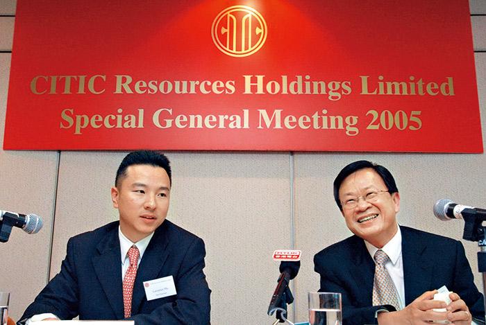 郭炎(右)曾任中信資源集團的重要操盤手,績效卓越。