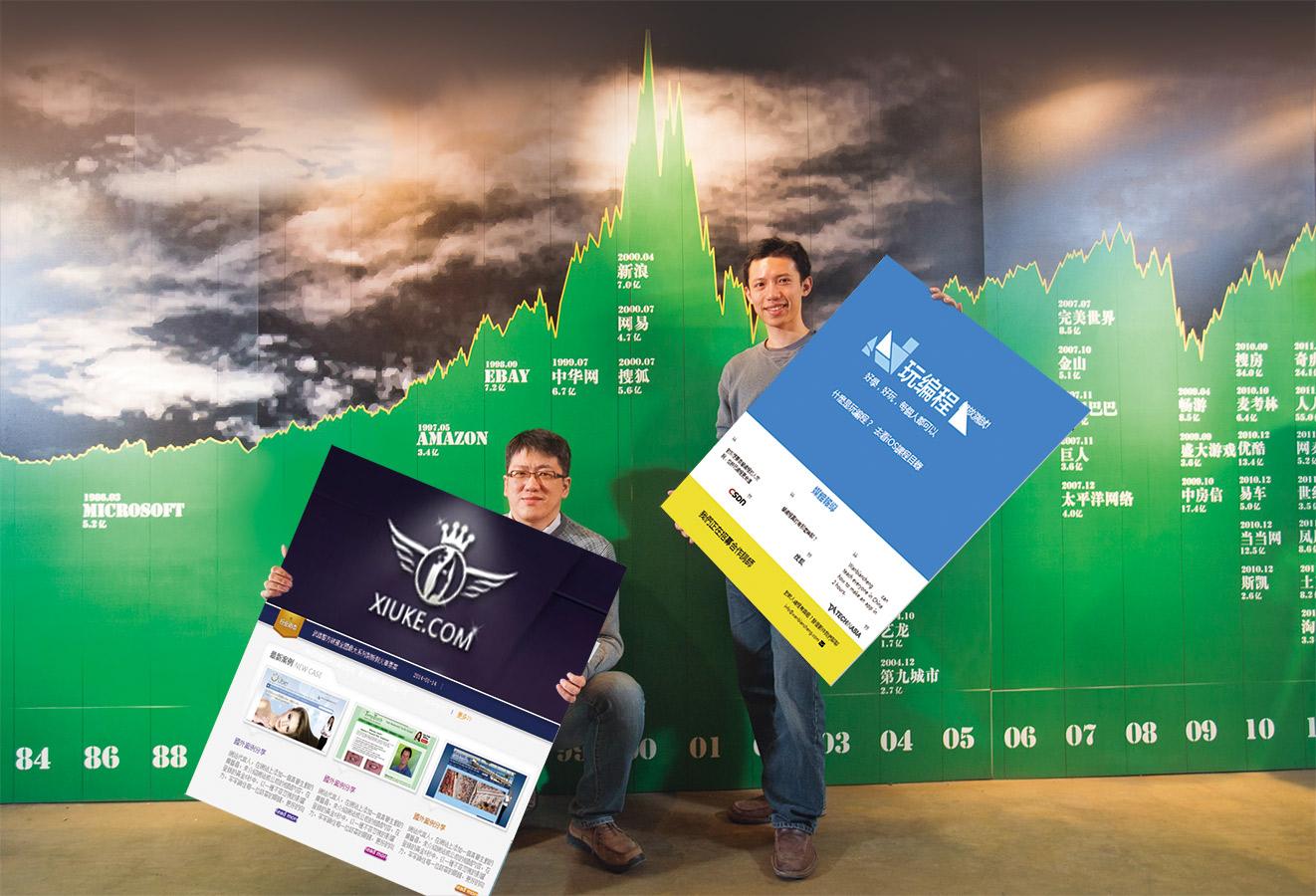高健凱(右)從美國西北大學MBA畢業後,連台灣都不回,提著一卡皮箱,就直飛中關村創業。