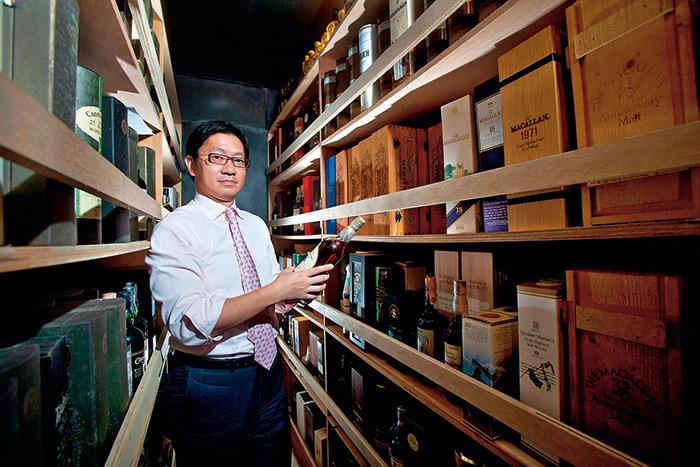 姚和成是台灣威士忌專 業人士的第一把交椅。