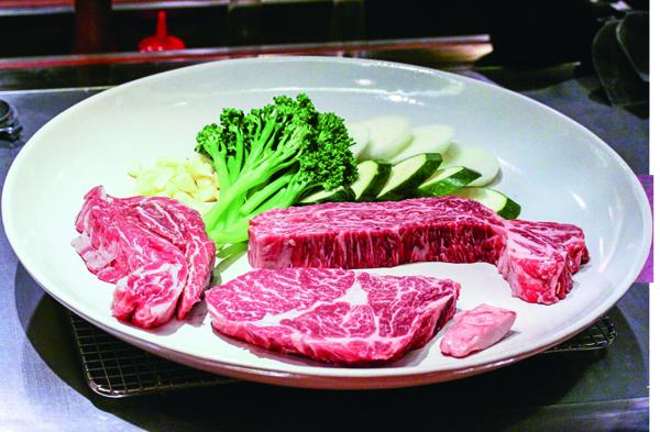 一次提供不同部位的牛肉,讓客人可以品嘗到多樣化 口感。