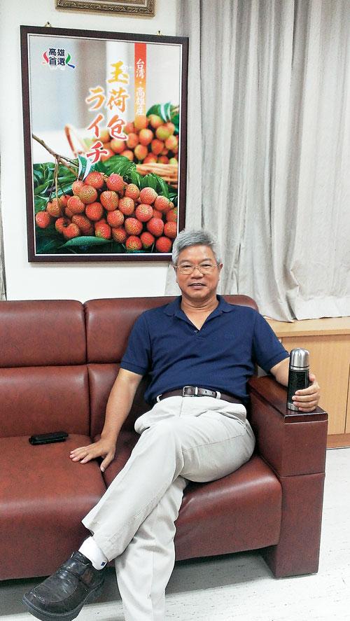 高雄市政府農業局局長蔡復進,是玉荷包啤酒的幕後推手。