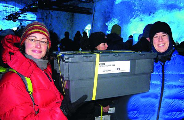 亞蔬工作人員將種原運往挪威全球種子冰窖保存。