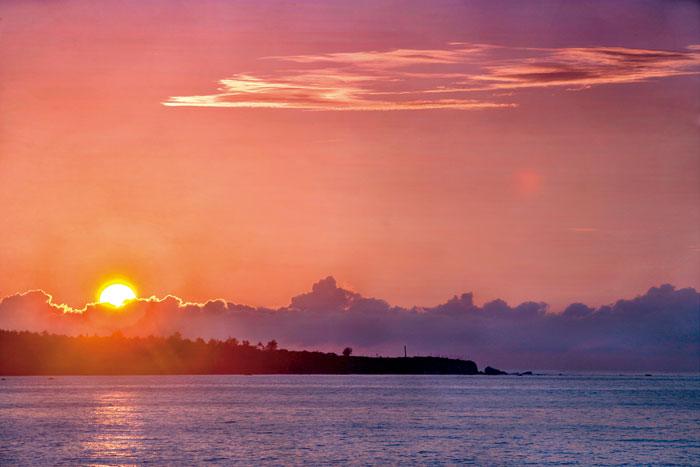 從早晨到夜晚,都蘭山海景色的 變化讓人驚豔。