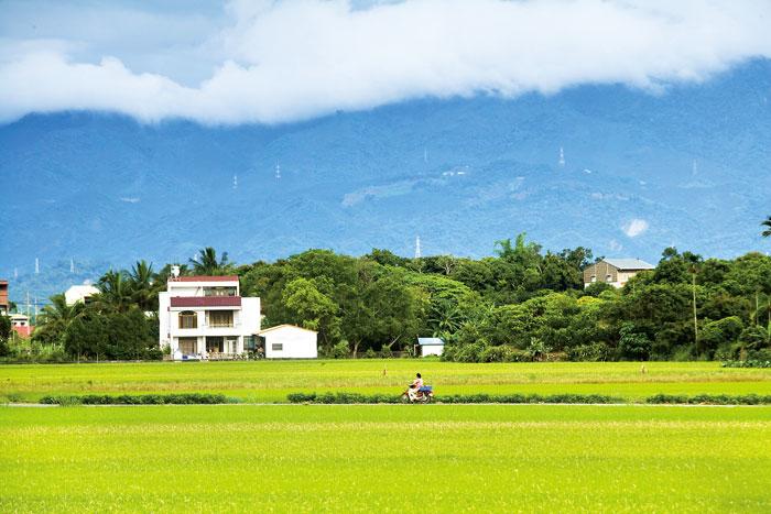 綠地果園藍天包圍,這是退休生活的最大享受。