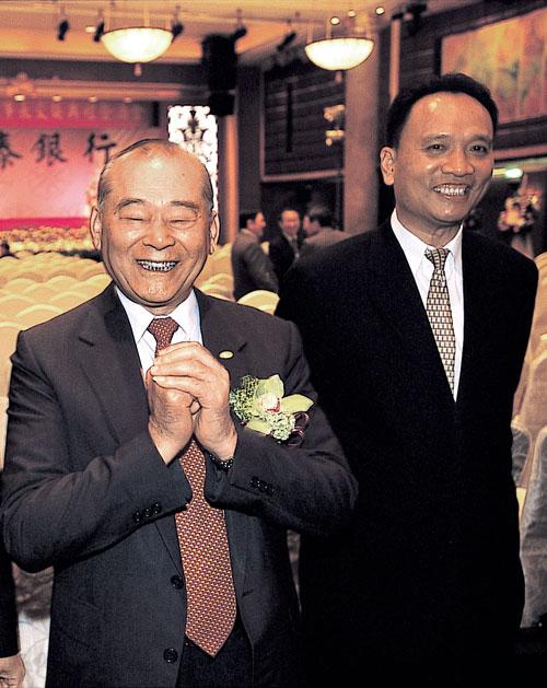 宏泰集團董事長林堉璘(左)相當倚重女婿 許東隆(右)在房地產的專業。