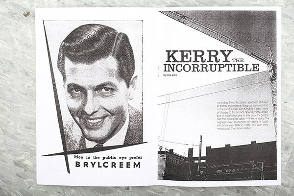 2004年兩兄弟自製刊物抗議政 府的黑白紙本