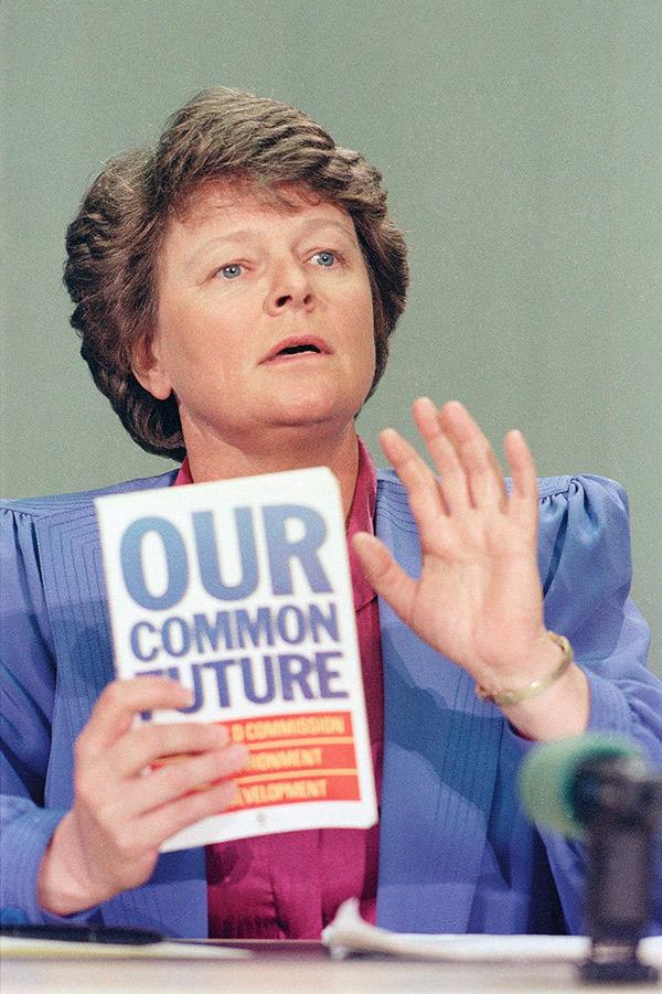 布倫特蘭1987年發表《我們共同的未來》(Our Common Future) 報告,開啟全球對永續發展的認知與重視。