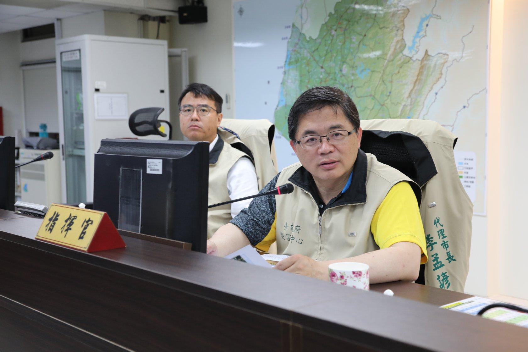 雨炸台南 市長宣布不停班課原因被大讚