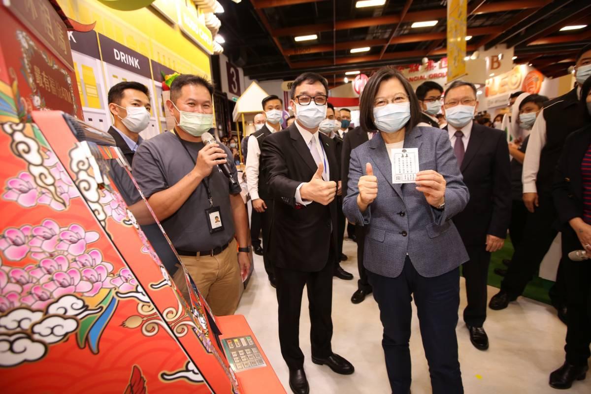 2020金博會》總統蔡英文抽出上上籤 台灣「一路直通好錢途」