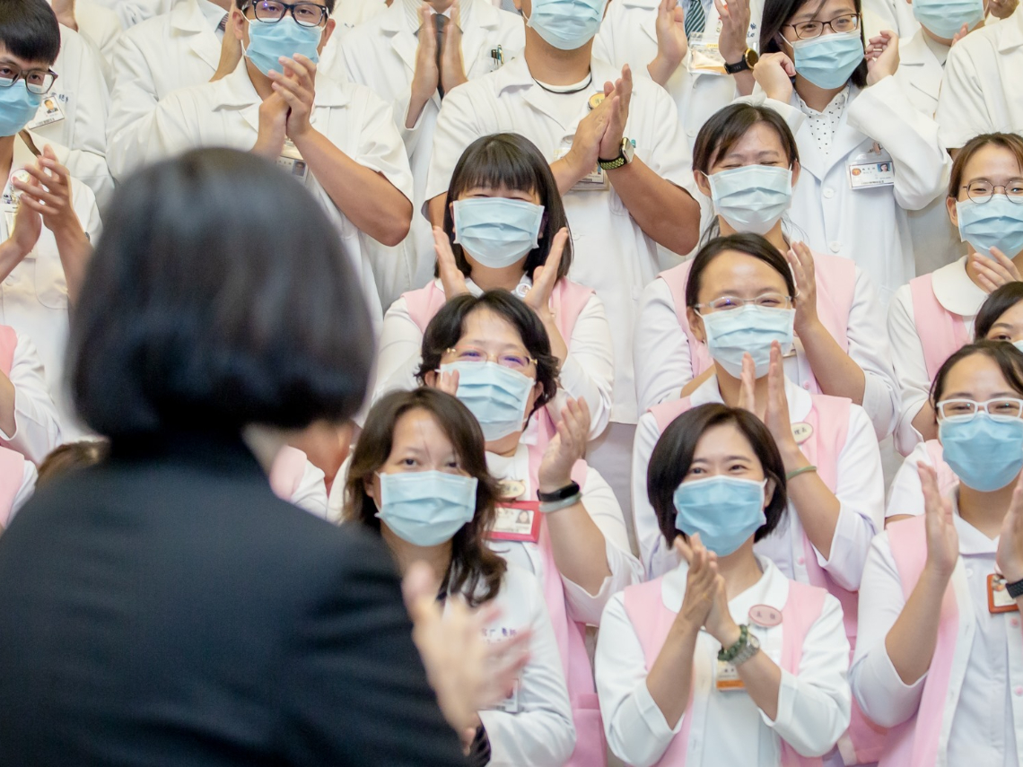 回擊楊志良! 蔡英文:戴好口罩挺醫護  不需「開除醫師」這種風涼話打擊前線士氣