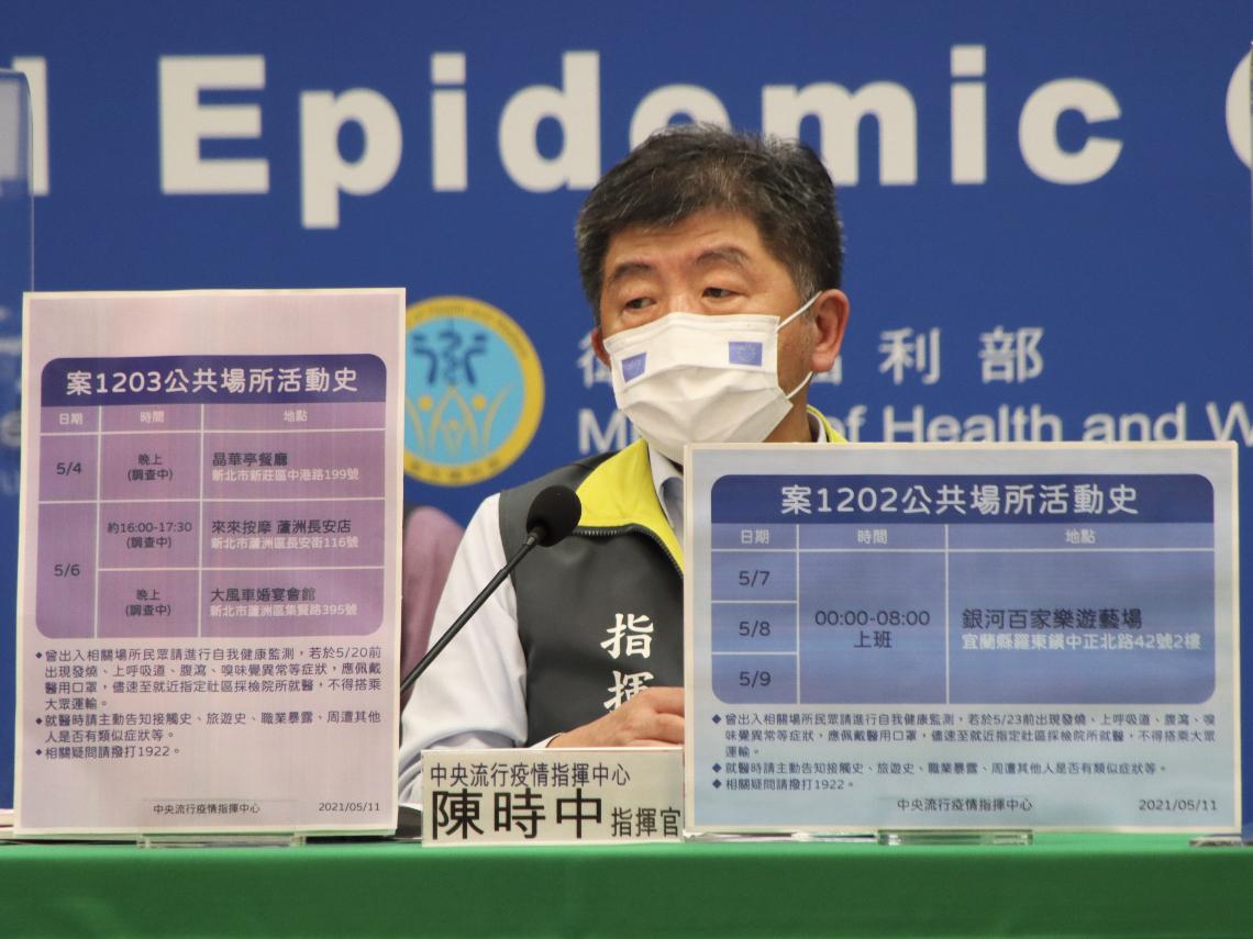 本土新增7例!機師家人染疫 新北1人、宜蘭多達5人群聚感染