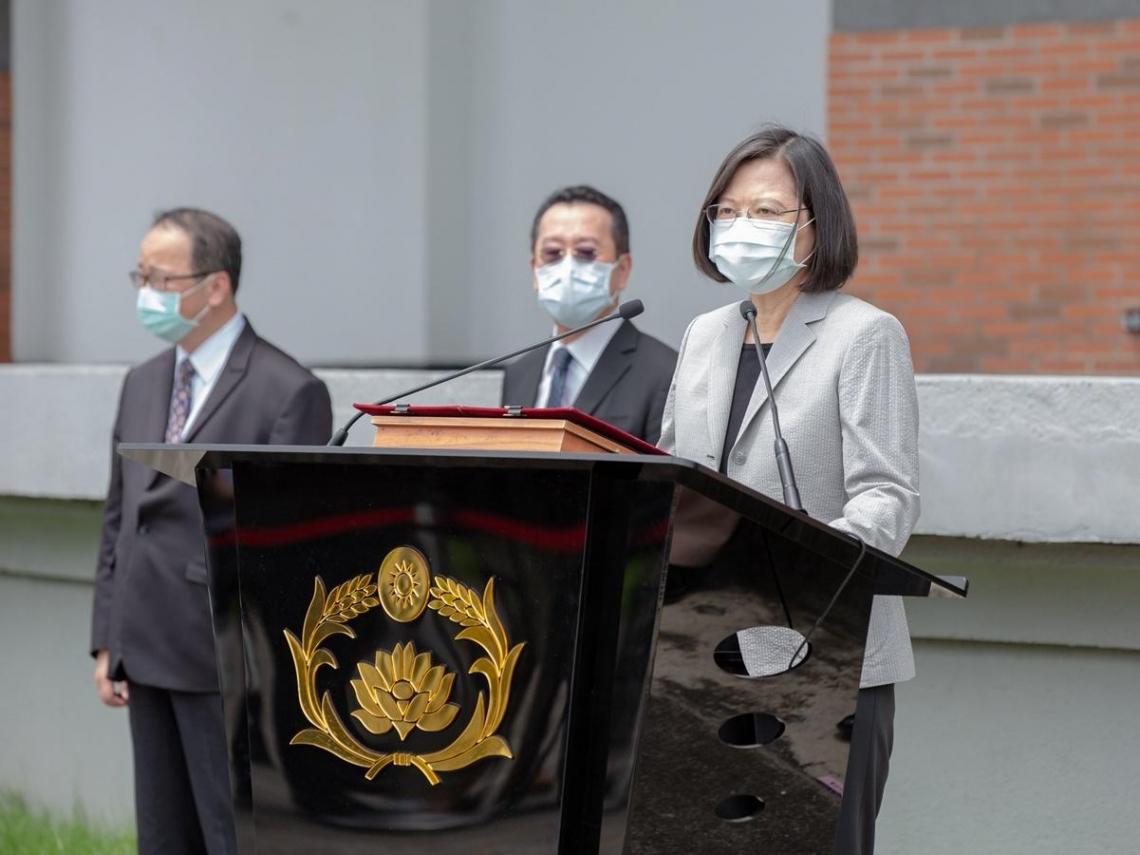 「我們不會坐視民主、自由、人權在香港倒退!」 蔡英文:台灣會持續撐香港、撐港人