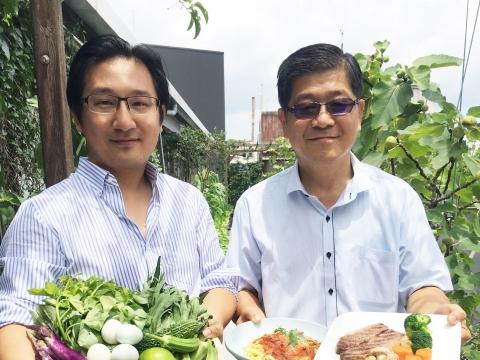 吳福洋針織執行長打造有機蔬果秘境!父親節不只秀豐收情,更吃出幸福感