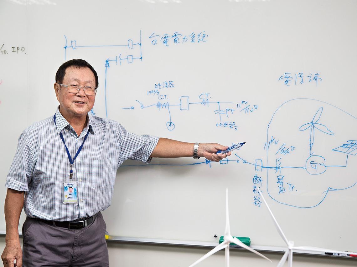 82歲台電老兵》樂山顧雷達、救彰化風機!「台灣電力國寶」的傳承大計