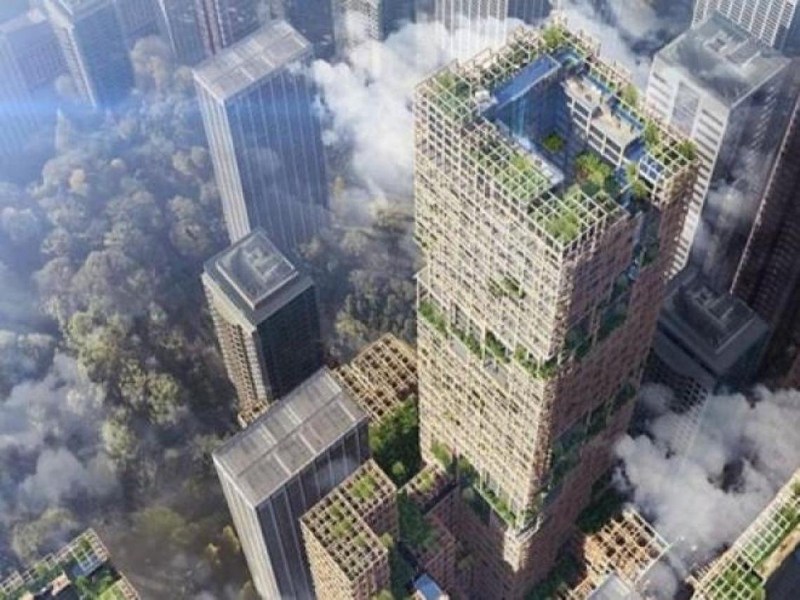 「砍樹=不環保」的想法過時了!這座100公尺高的木造大廈,掀起建築界「永續」新革命