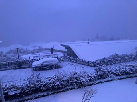 下雪囉》太平山、大屯山一夜白頭,全台失速低溫!「大範圍高山區應該都有雪」