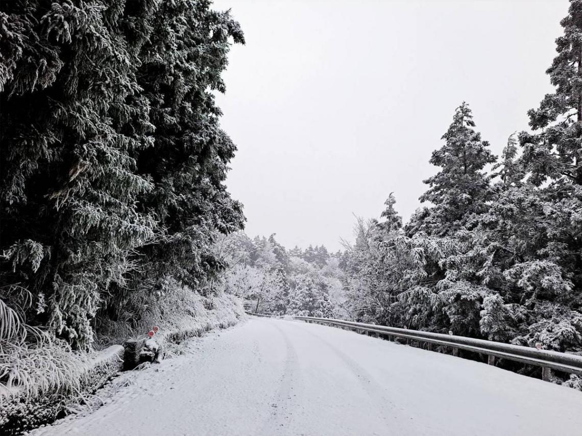 追雪攻略>>>太平山降瑞雪宛如「北國」 停車管制、保暖裝備、必備小物一次看
