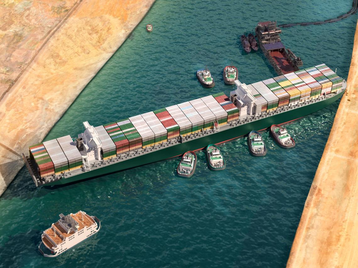 埃及扣押長榮「長賜號」 船公司須付256億賠償金才放行