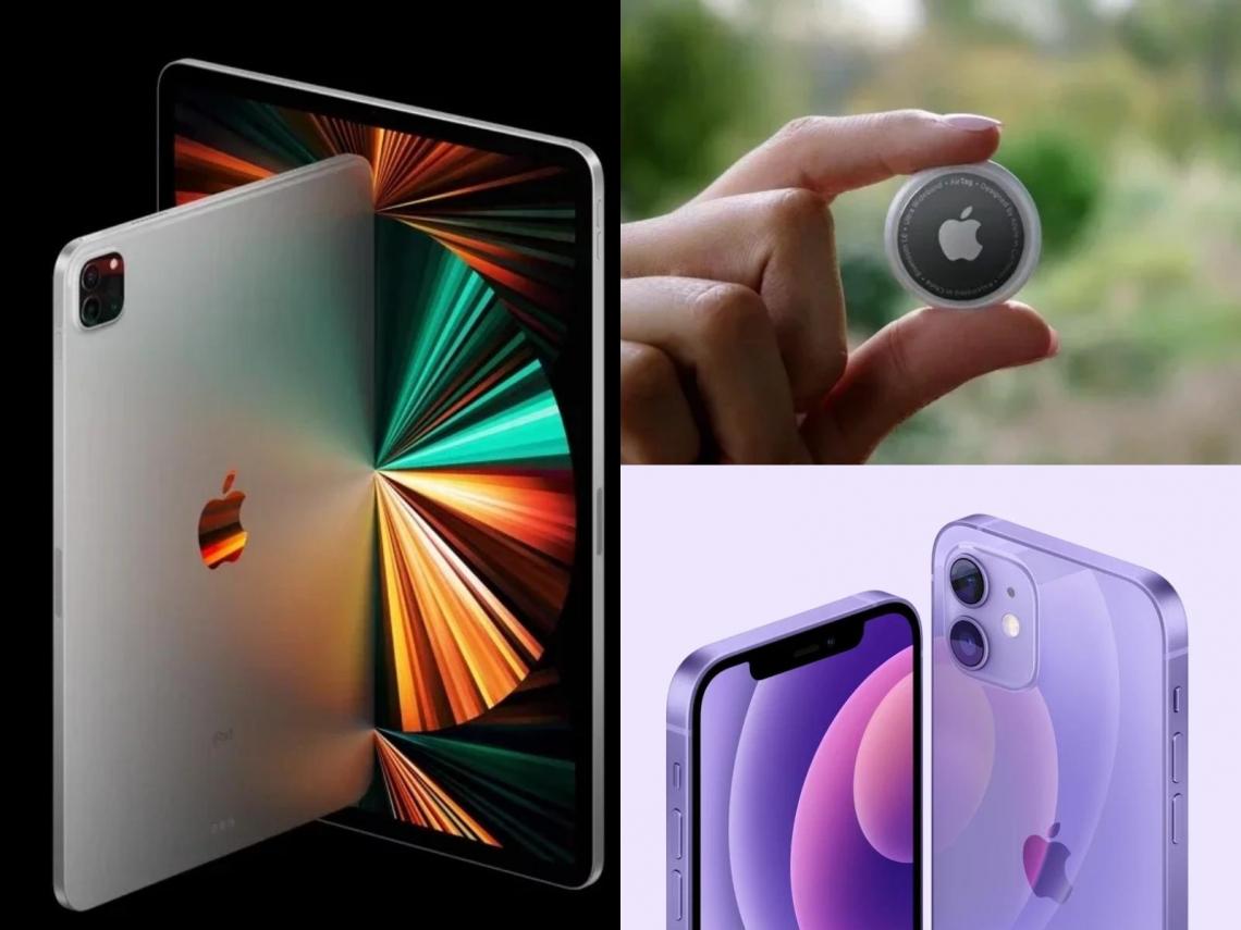 蘋果新品一次看!AirTag首次現身、M1版iPad Pro、Apple TV 4K、紫色iPhone 12售價曝光