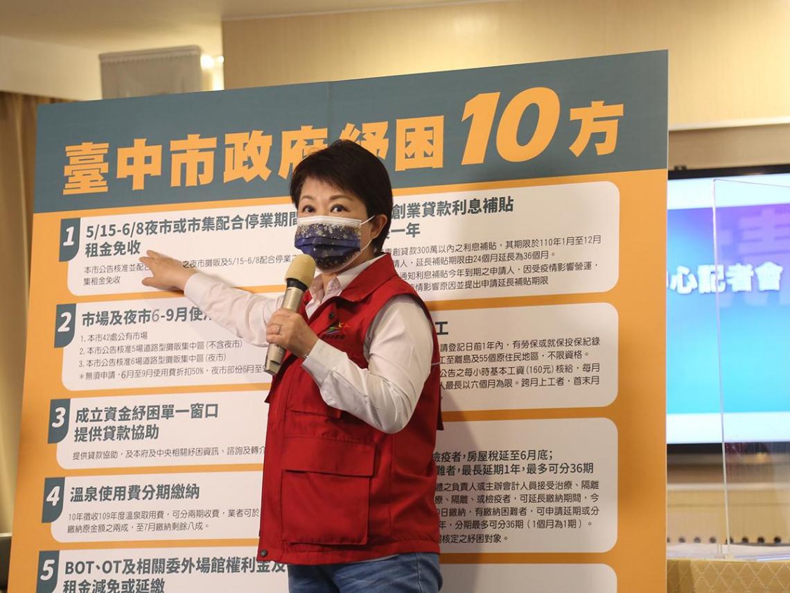 臺中市政府開解方:推出「紓困10方」與民眾共度疫情難關
