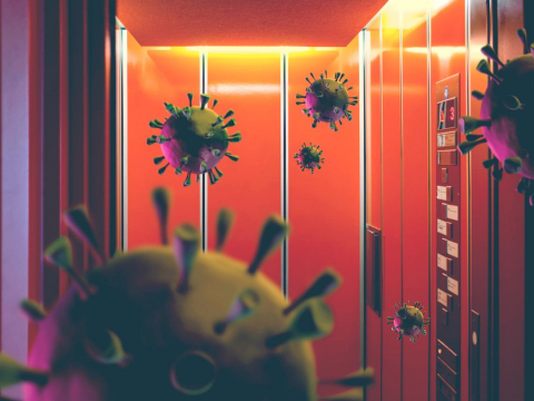 鳳山恐怖毒電梯5人染疫》電梯一啟動,病毒就亂噴!重症醫:進電梯前一定要做這件事
