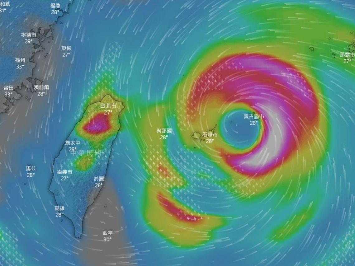 大眼颱「烟花」小跑步進逼台灣北部 今晚起各地影響時程曝光