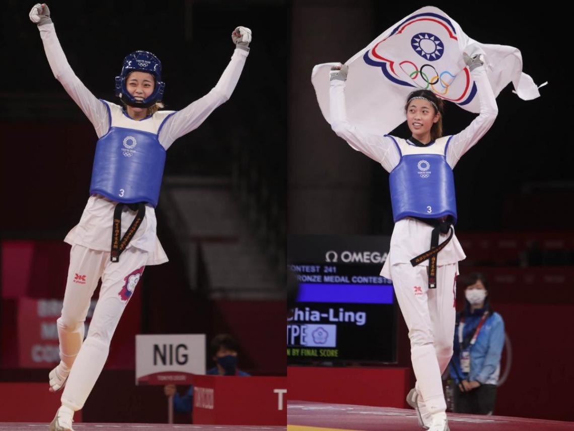 東奧》踢落尼日選手!19歲小將羅嘉翎勇奪跆拳道女子57公斤銅牌