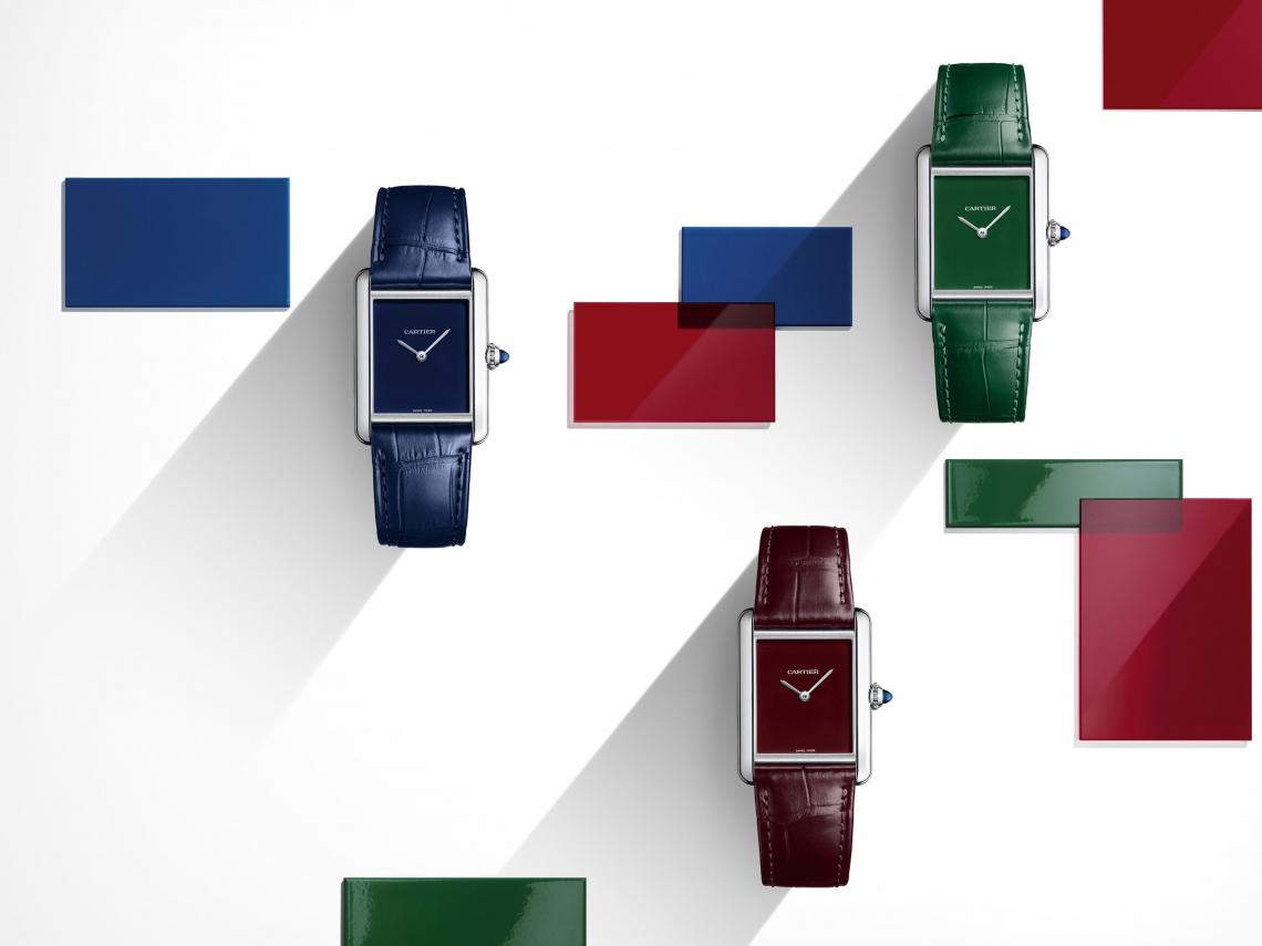 Cartier Tank Must 翻玩經典,綠色「錶」心意