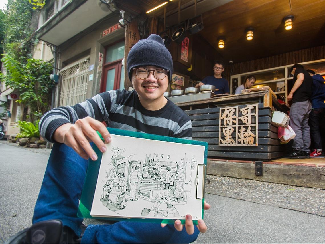 他用插畫  細細勾勒台灣韻味