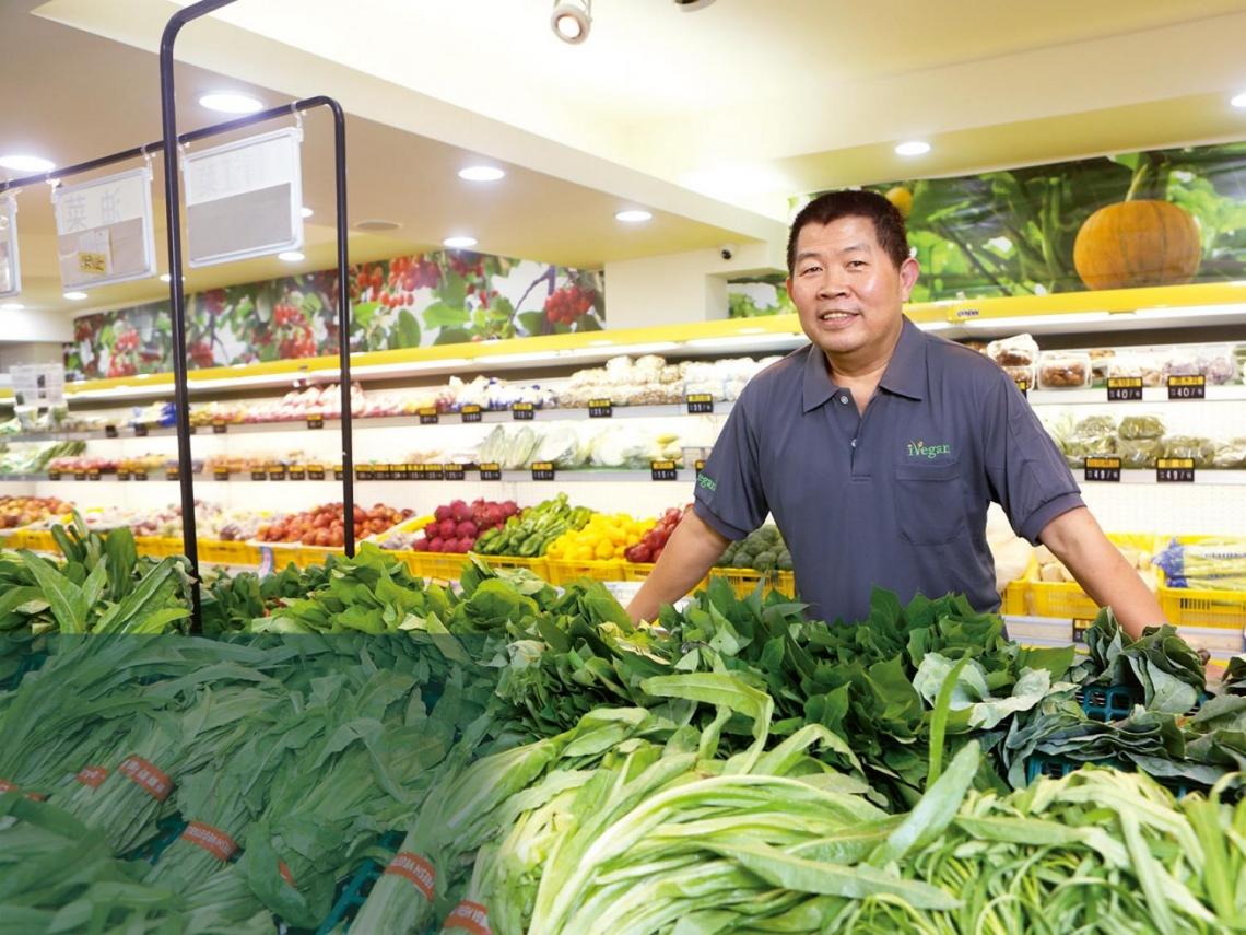 吃素里長伯 催生全台唯一蔬食超市