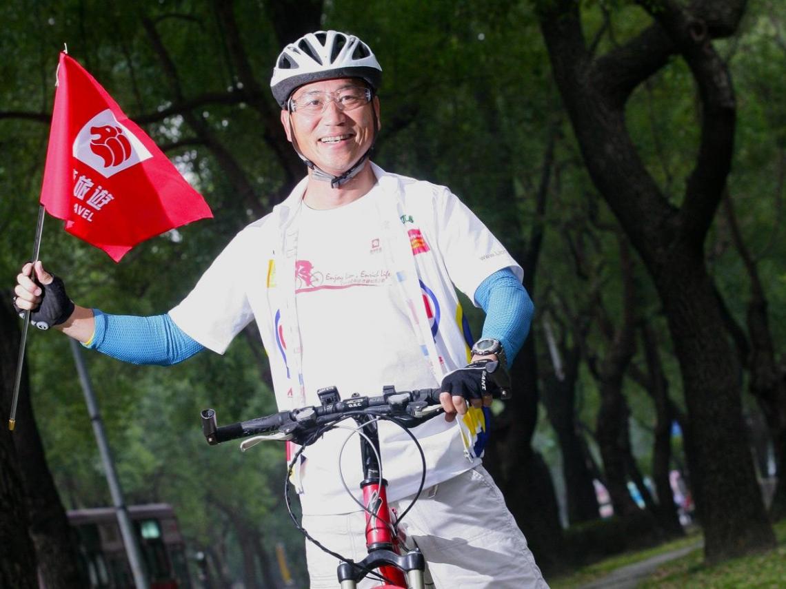 單車旅遊行程讓劉力源為自己加薪