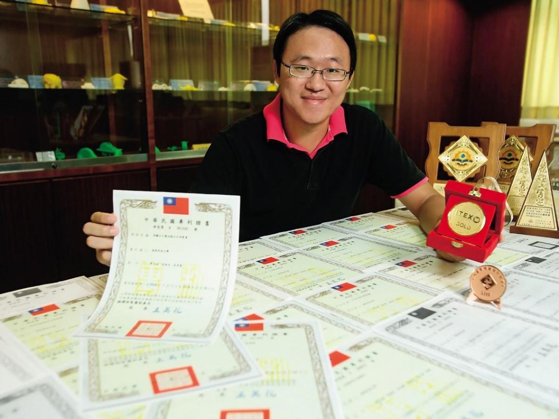 宅男研究生兩年獲六十一項專利