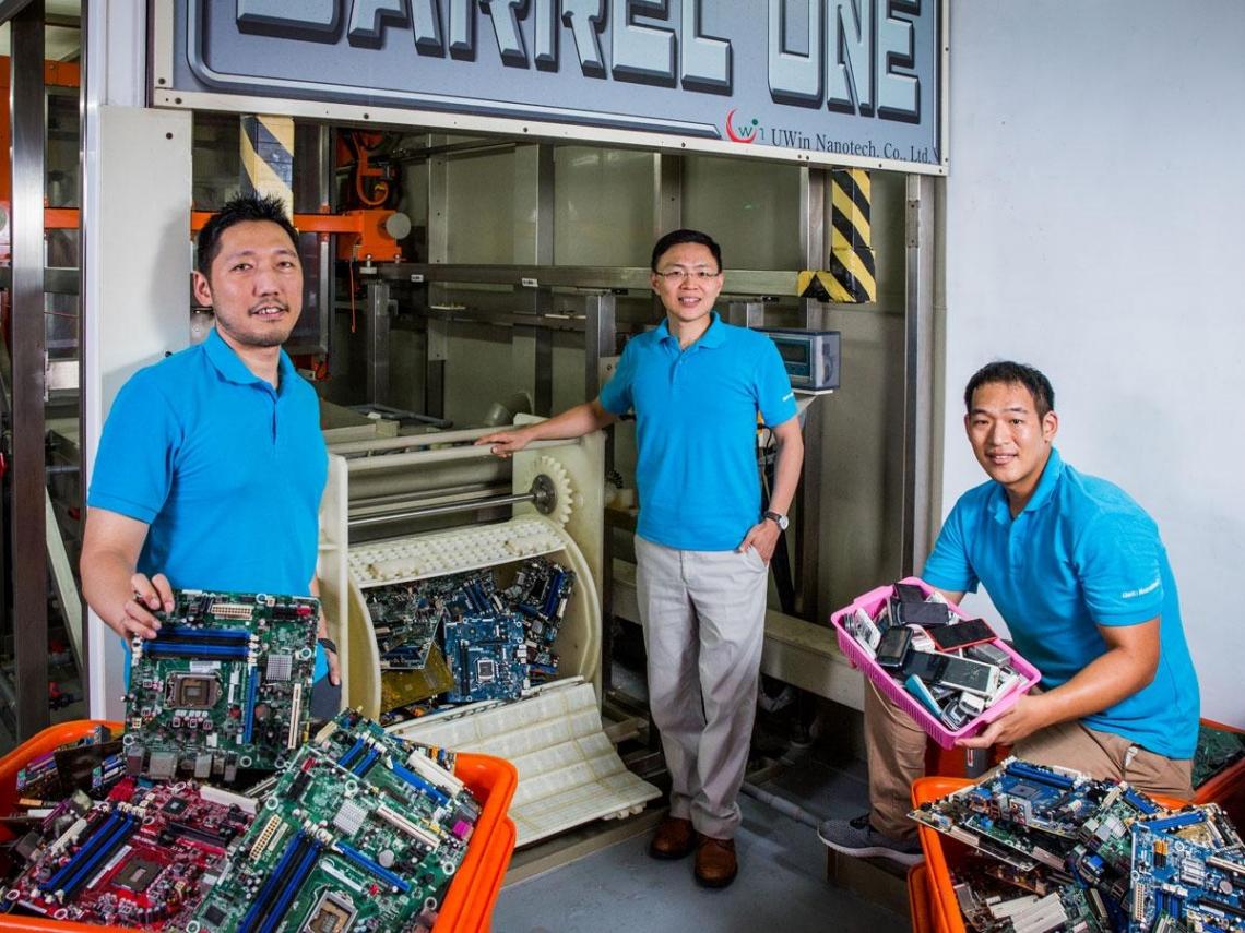 台灣環保剝金術技術賣到30國