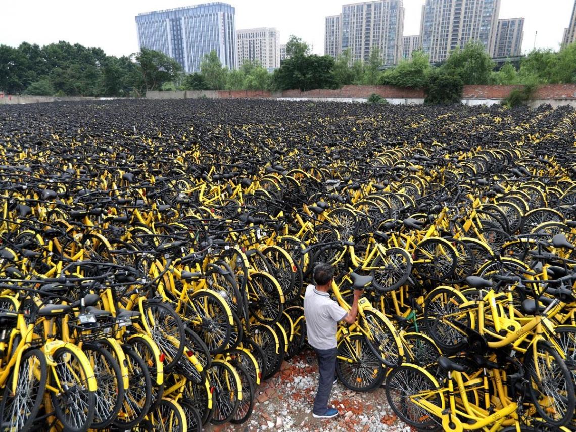 三年泡沫620億  這個90後玩殘共享單車