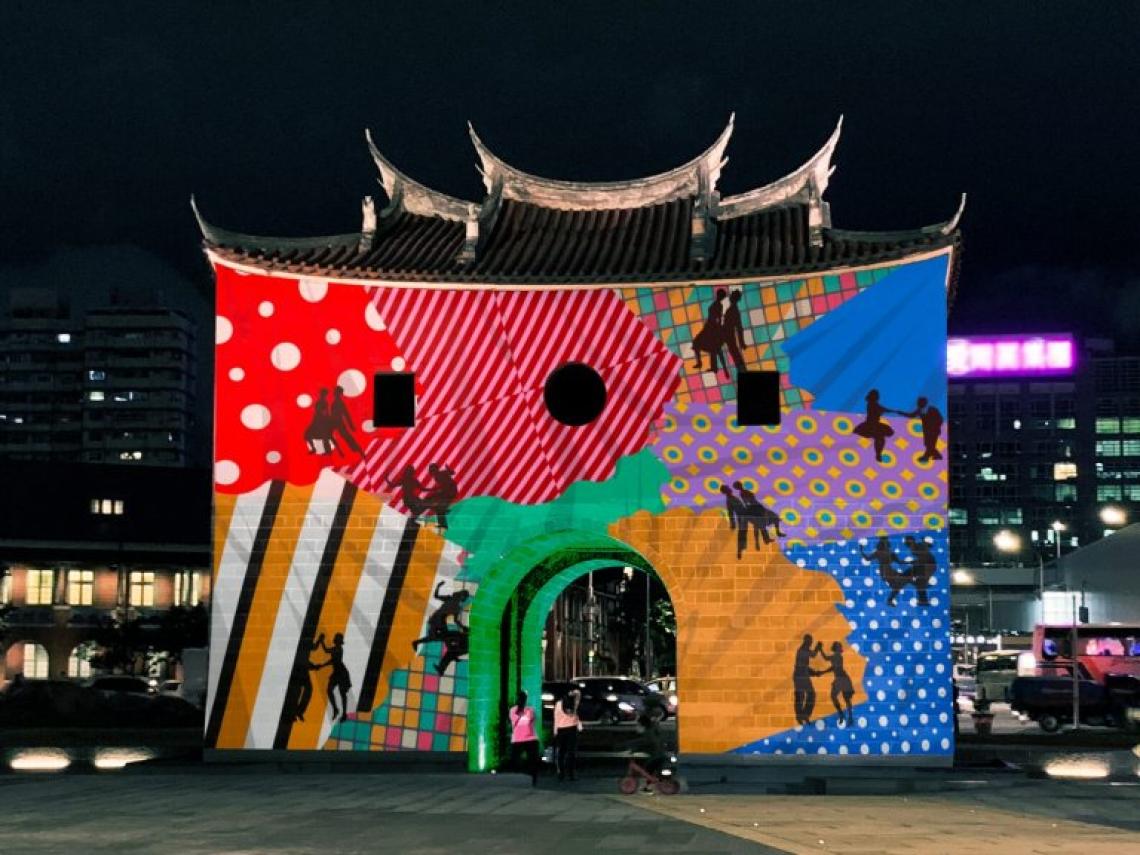 【2019台北燈節超酷炫】360度光雕投影不稀奇!還東西合璧,連古老北門也搭上爵士樂
