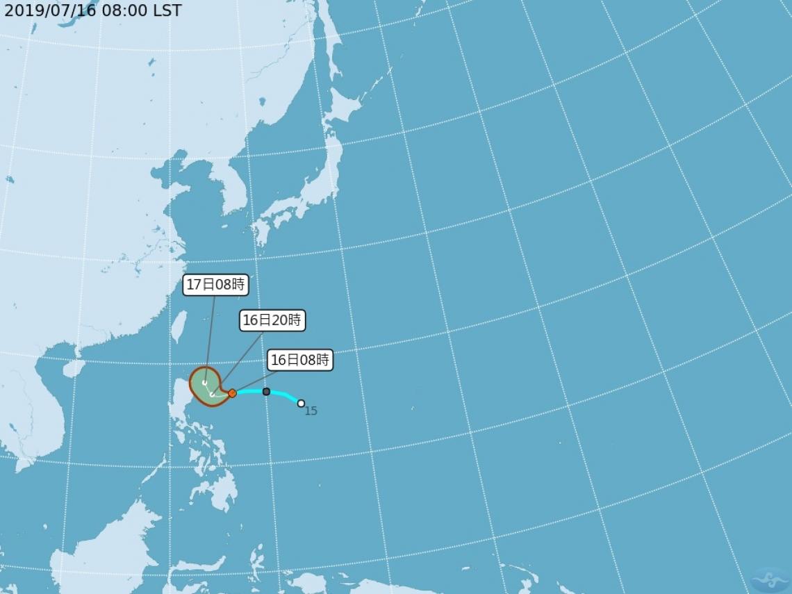 準颱風「丹娜絲」最快今晚發海警 週四、五影響台灣最劇烈
