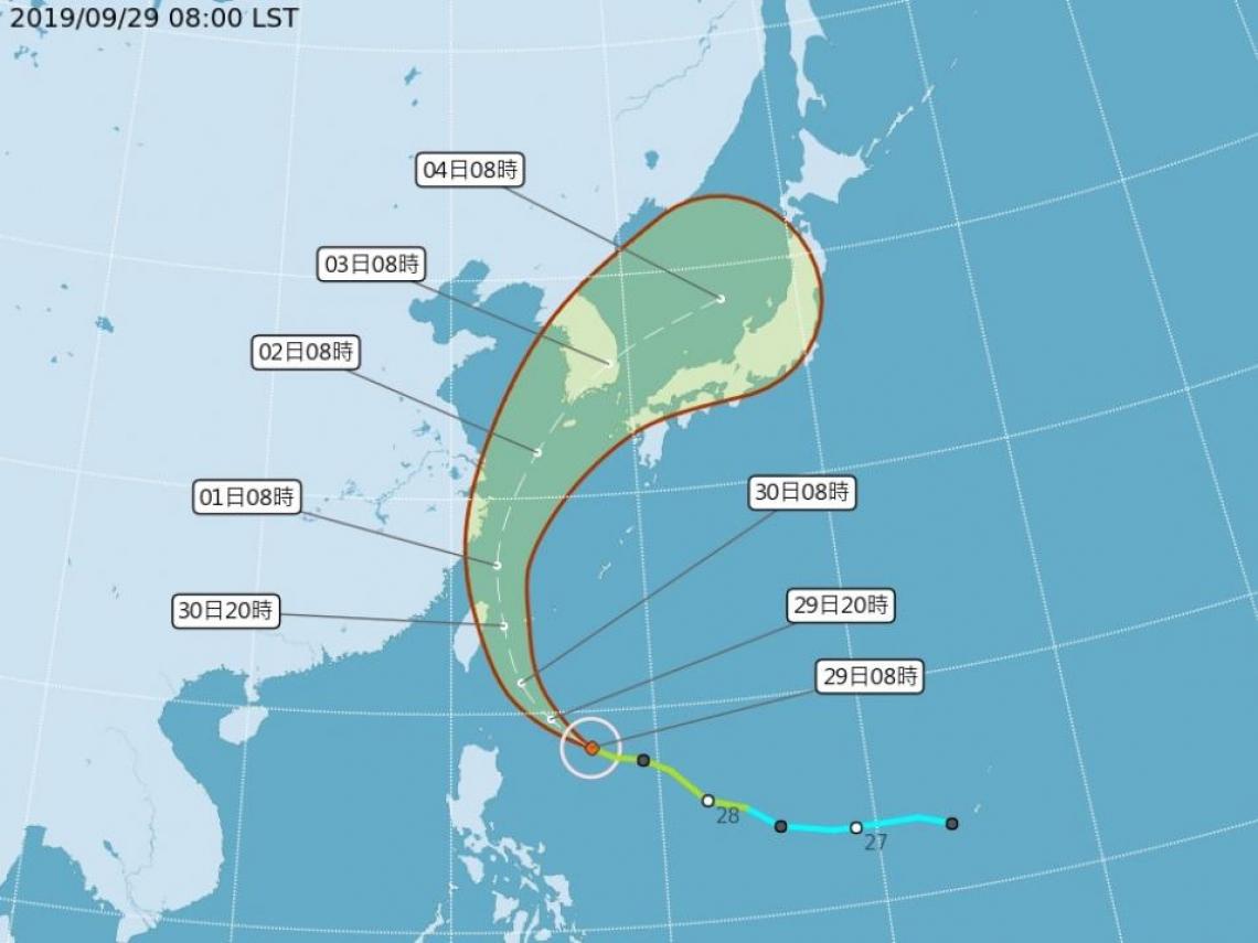 米塔颱風海警發布 氣象局不排除最快傍晚發布陸警