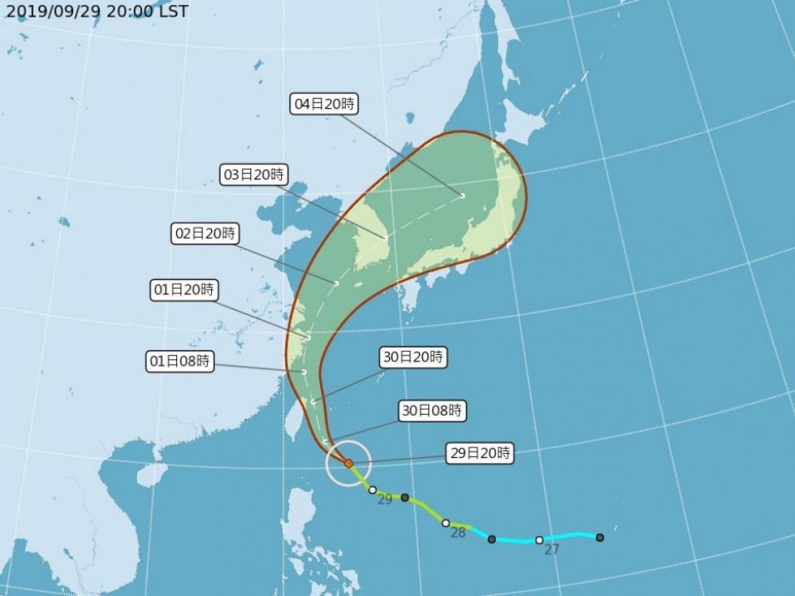 米塔颱風陸警發布 宜花東嚴防強風豪雨