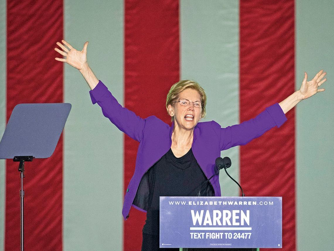 左派女戰將華倫  將成川普新勁敵?