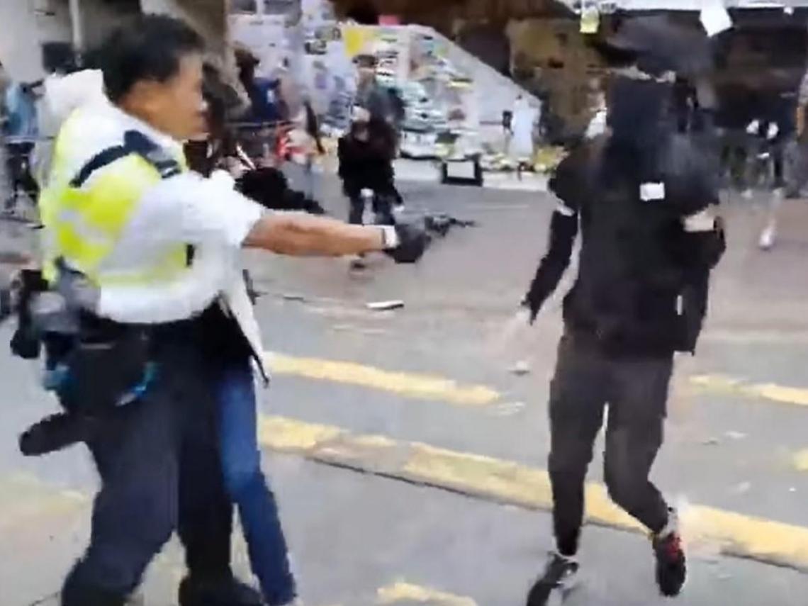 港警開3槍擊中2民眾 光頭警長:別認為警察永遠不會開槍,這才是國際標準
