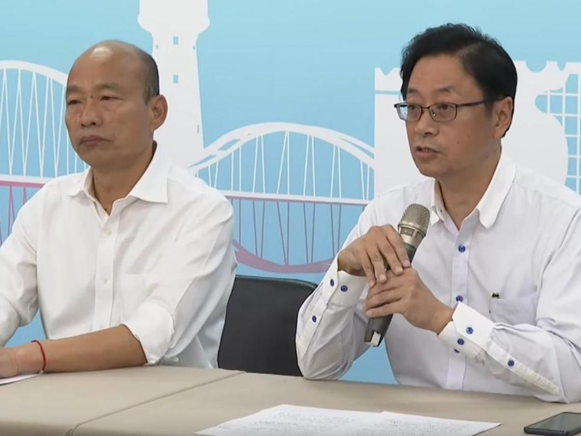 韓國瑜正式宣布張善政為副手搭檔 張:不會成為吉祥物或深宮怨婦