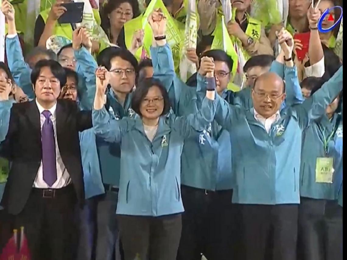 蔡賴同台明宣布副手 蔡英文:贏了高雄 全台就會贏